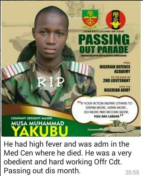 HEARTBREAKING DETAILS ON HOW ARMY CADET DIED JUST A ONE WEEK TO HIS PASSING OUT PARADE (PHOTOS)