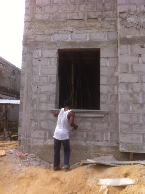 For conpetence blocks laying jobs plastering and for Window hood design in nigeria