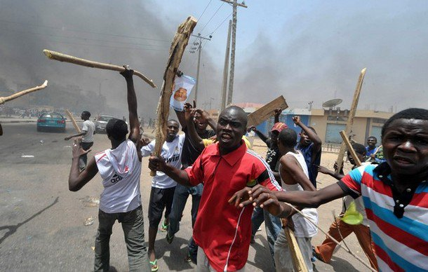 Image result for images of riot in Nigeria