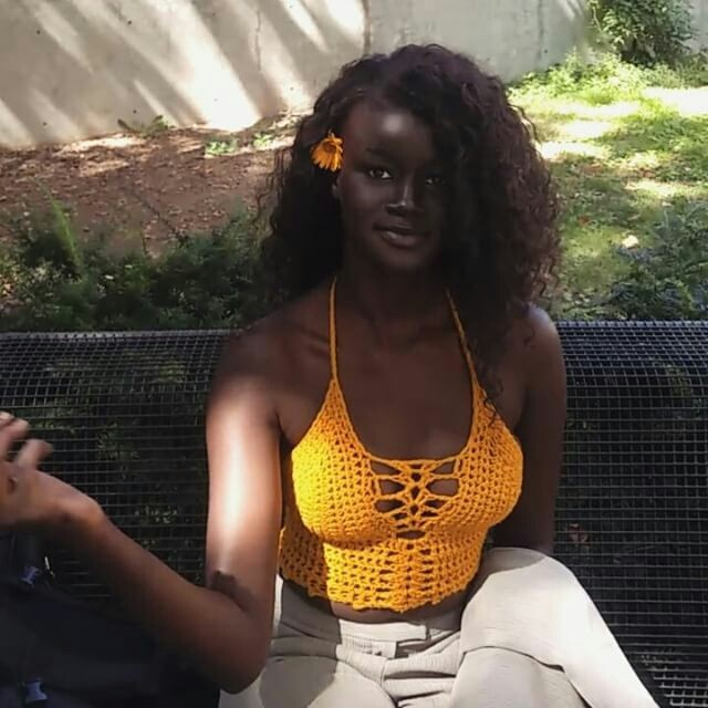 SPEECHLESS!!! SEE KHOUDIA DIOP CHARCOAL BLACK AFRICAN THAT NO CREAM CAN BLEACH (PHOTOS)