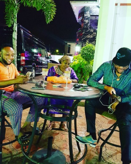 MONEY IS GOOD!!! E-MONEY & KCEE HANG OUT WITH THEIR MUM AT E-MONEY'S EXPENSIVE FIVE STAR MANSION (PHOTOS)