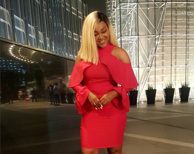 MERCY AIGBE ALLURES AS SHE STEPS OUT IN RED