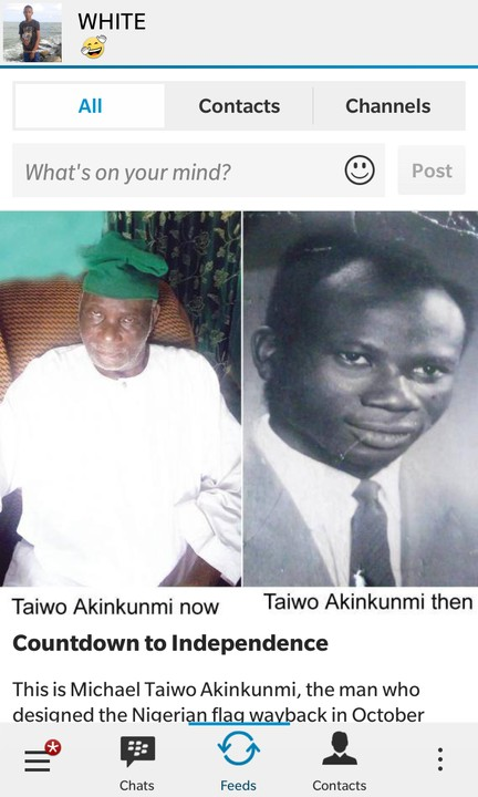 Nigerian Flag Designer, Taiwo Akinkunmi: Then And Now (Photos