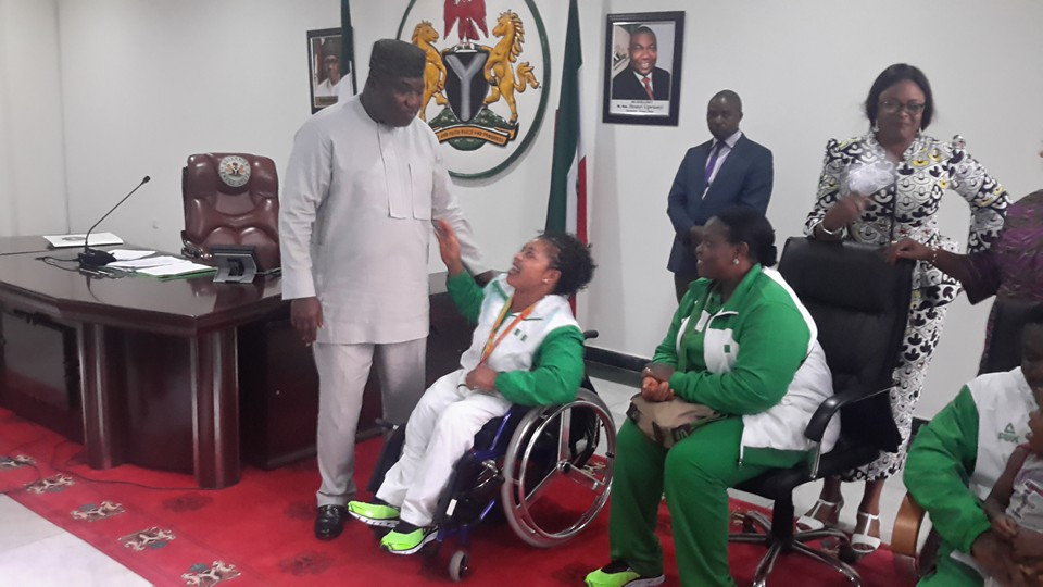 Ugwuanyi Rewards Lucy Ejike With N1m And A Plot Of Land (Pics)