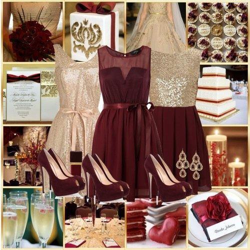 Wedding Colour Combination: Burgundy And Champagne Gold - Events ...