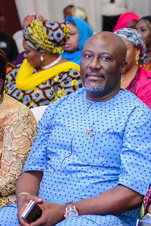 Dino Melaye, George Weah And Toyin Saraki Pictured Today
