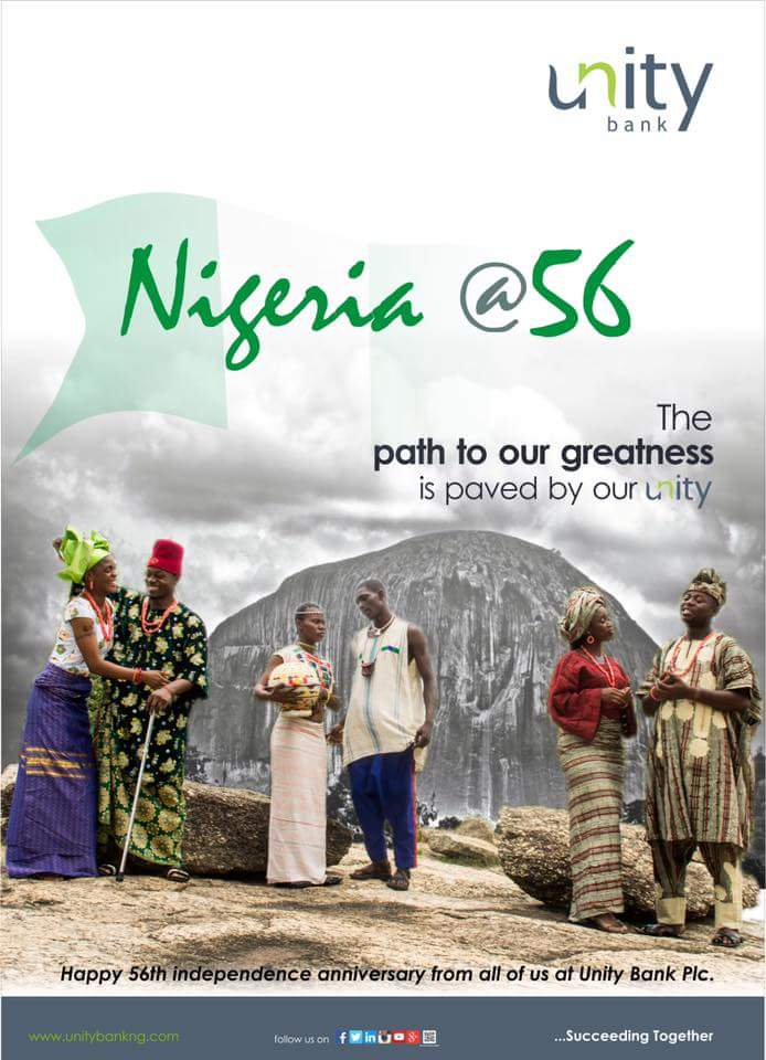 See The Way Unity Bank Celebrated Nigeria's 56th Independence Anniversary