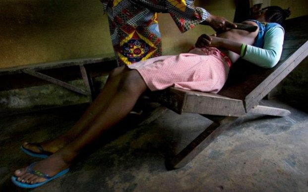 Cameroon in breast ironing