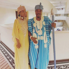 Photos Of Oluwo Of Iwo, Oba Abdul Rasheed Akanbi And His Pregnant ...