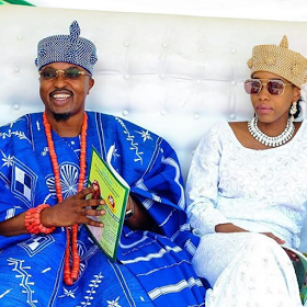 Image result for Oba Akanbi, Oluwo Of Iwo, And His Jamaican Pregnant Queen