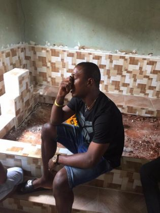 Super Eagles Striker, Ighalo Crying At His Father's Burial (Photos)