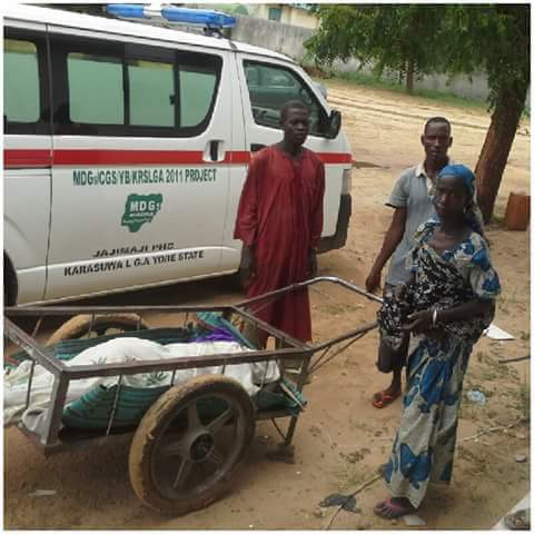 Dead Body In Gombe Transported With Wheelbarrow From Hospital To Deceased Home