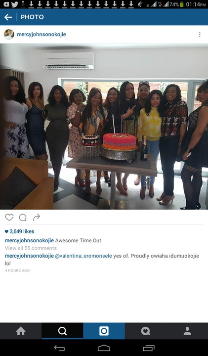 4346955 screenshot20161012131459 jpegaf93dfb40f5ffa809e8213677fab9416 - Mercy Johnson Attends Her Sister-In-Law's Birthday Party (Photos)