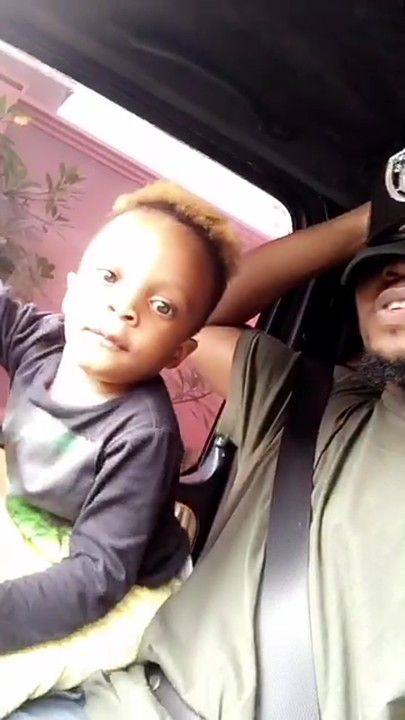 Olamide Feeling Very Happy As his Son Drive His Bike Around Him