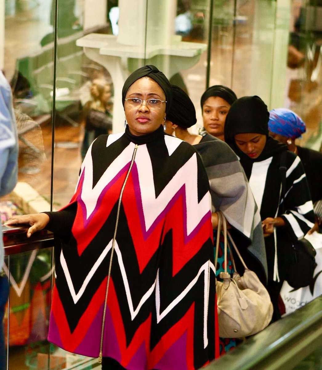 See New Pics Of Aisha Buhari After The BBC Interview Saga As She Leaves For Brussels