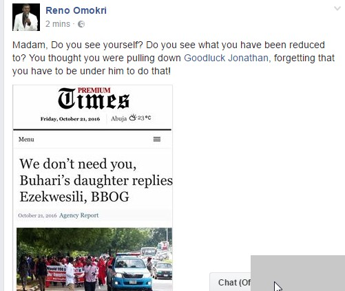 """""""See What You Have Been Reduced To"""" – Reno Omokri Mocks Oby Ezekwesili"""