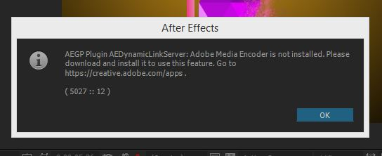 Exporting To Adobe Media Encoder From Adobe After Effects