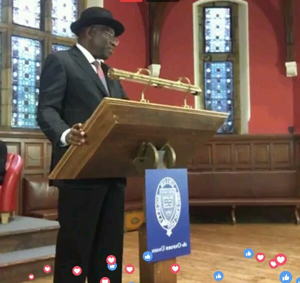 Goodluck Jonathan Hailed For His Speech At Oxford University (Pics)