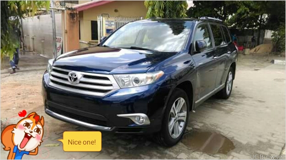 for sale 2012 toyota highlander limited suv usa direct wooden interior autos nigeria. Black Bedroom Furniture Sets. Home Design Ideas