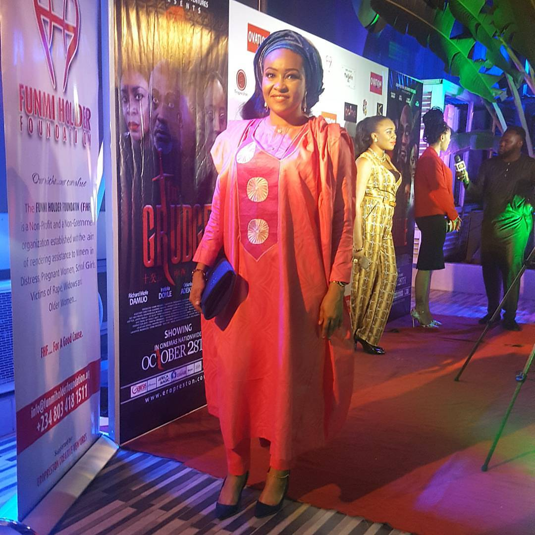 Actress Doris Simeon Steps Out In Agbada For A Movie Premiere