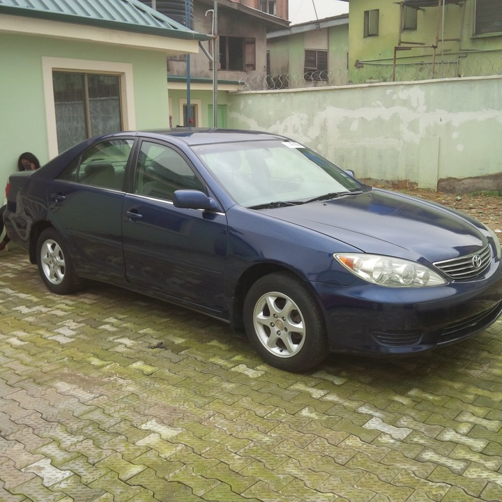 sold tin can cleared 2006 toyota camry le blue autos nigeria. Black Bedroom Furniture Sets. Home Design Ideas