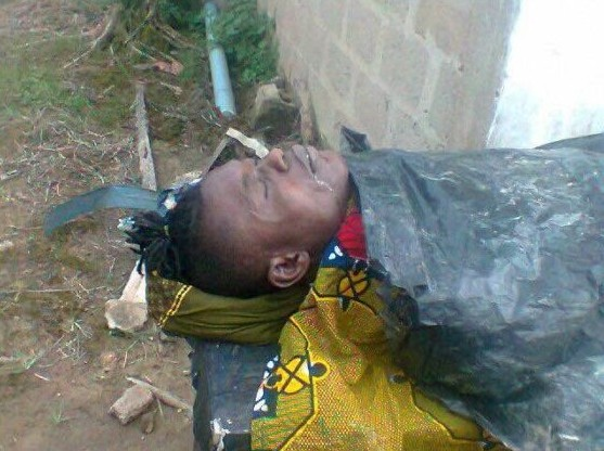 Graphic Photos Of Dead Body Of Shooting Stars Player, Izu, Who Was Shot Dead By JTF