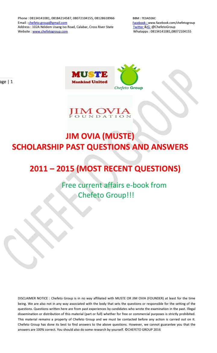 get your mtn foundation scholarship past questions and answers