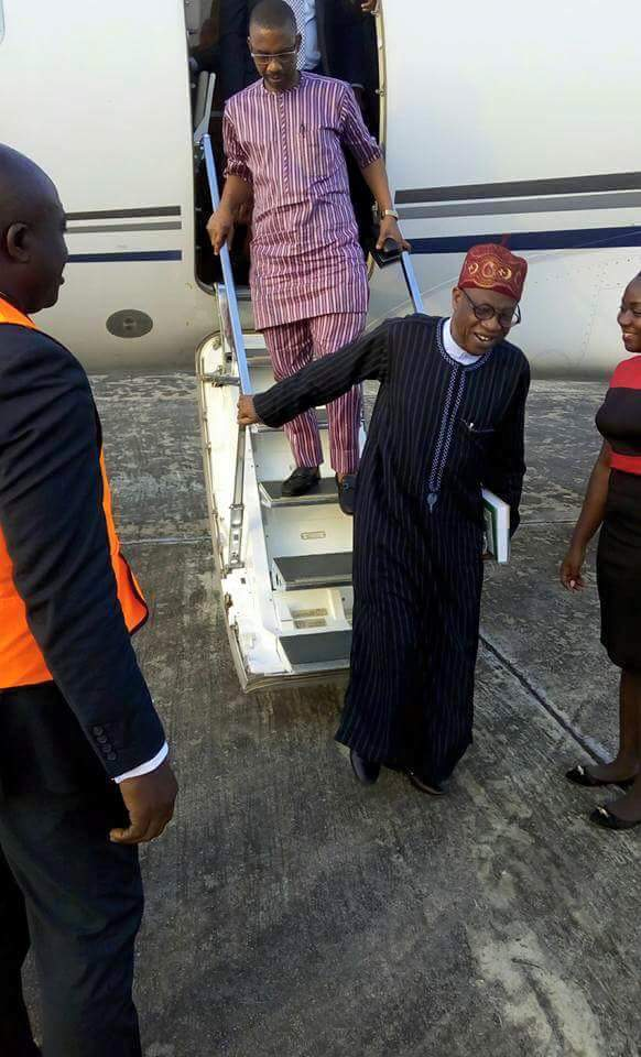 Lai Mohammed Flies Private Jet To Delta State, Nigerians React (Photos)