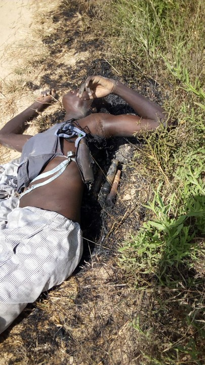 Photos Of Suicide Bomber Killed In Maiduguri Yesterday As He Tried To Enter IDP Camp