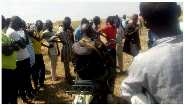 Photo Of The Soldier That Foiled Today's Suicide Bomb Attempt On Bakassi IDP, Borno