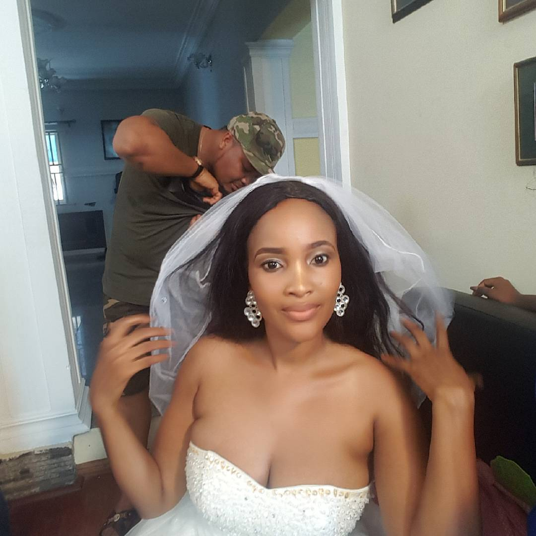 Celebrity Wedding Nollywood Movie: Nollywood Actress Flaunts Massive Cleavages In Her Wedding
