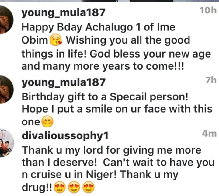 TCHIDI CHIKERE'S EX WIFE SOPHIA WILLIAMS GETS A CAR AS BIRTHDAY GIFT FROM YOUNG MULA (PHOTOS)