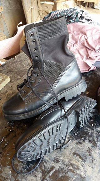 Photo: The Made In Aba Boots Our Nigerian Army Will Be Wearing