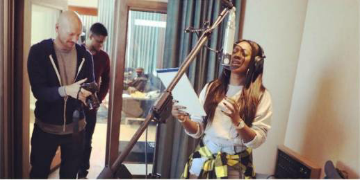 Tiwa Savage Hits The Studio With Rihanna's Producer, Stargate (Photos)