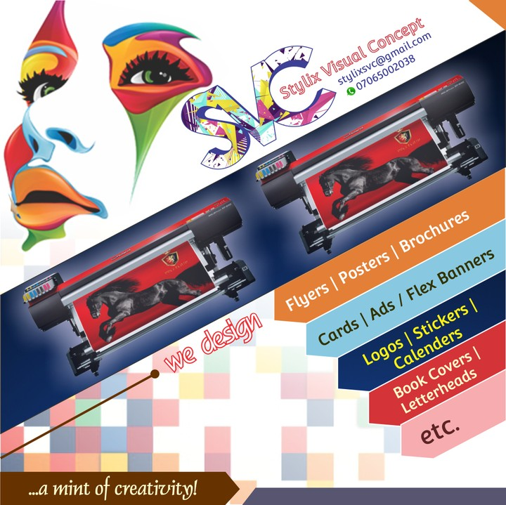 Get your logo banner flyers etc designs for n1500 only view we make designs and prints on business cards invitation cards flyers book covers brochures flex banners customize souvenirs etc and any other graphics reheart Choice Image