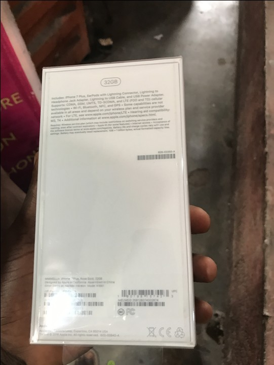 Brand New Sealed Rose Gold IPhone 7 Plus 32gb For Sale 440k Contact 08022846943