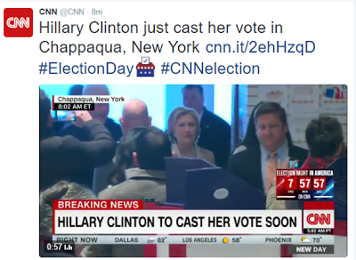 US Election: Hillary Clinton Casts Her Vote Alongside Her Husband (Pics, Video)