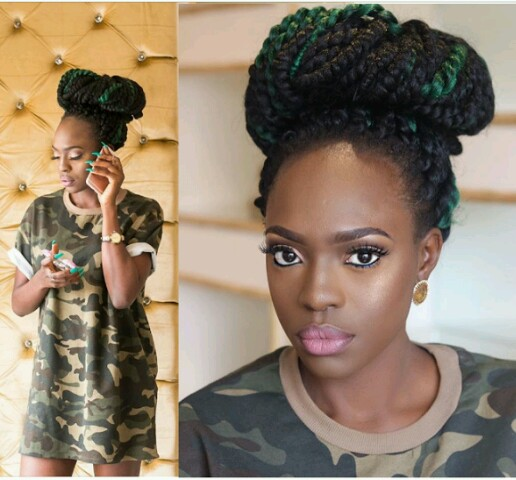 Ex-BBA Housemate And Model, Beverly Osu Dazzles In Military Outfit (Photos)