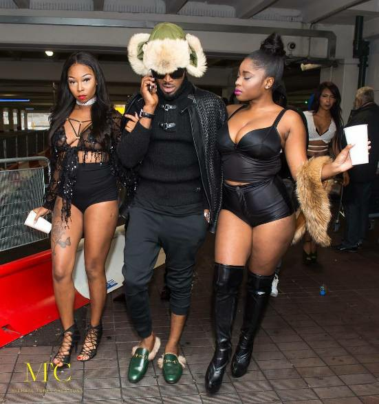 D'banj Arrives UK With Scantily Clad Ladies For His Upcoming Concert (Photos)