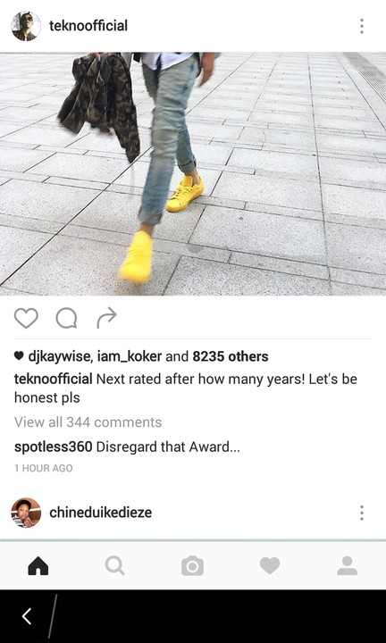 Tekno's Fans Blast The Headies, As Tekno Complains About His Nomination