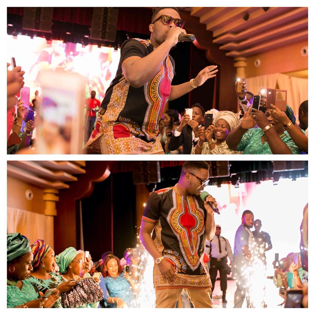 "Image result for See How D'banj & Olamide ""Shut  Down"" This Wedding Reception in Oriental hotel"