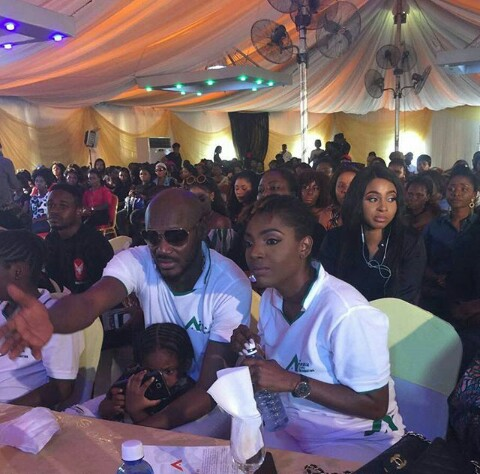 Image result for Lovely Photo Of 2Baba And Annie Idibia At The Unveiling Of Annie Idibia's Care Foundation