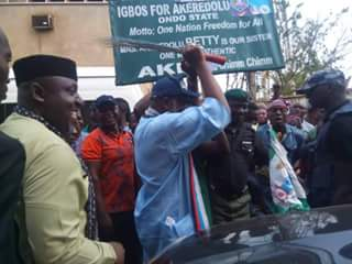 Image result for Okorocha joins Akeredolu to campaign