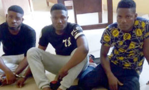 "3 Yahoo Boys Caught In Ibadan With Their Laptops And ""Juju"" (Photo)"