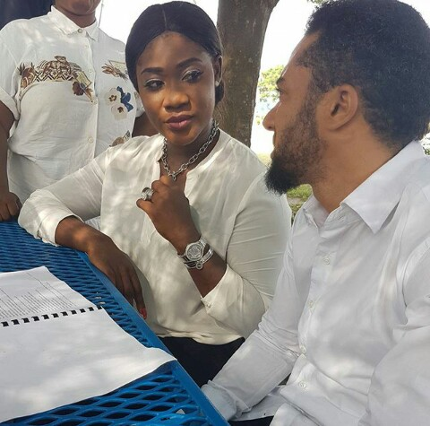 Mercy Johnson Spotted With Majid Michel On Set