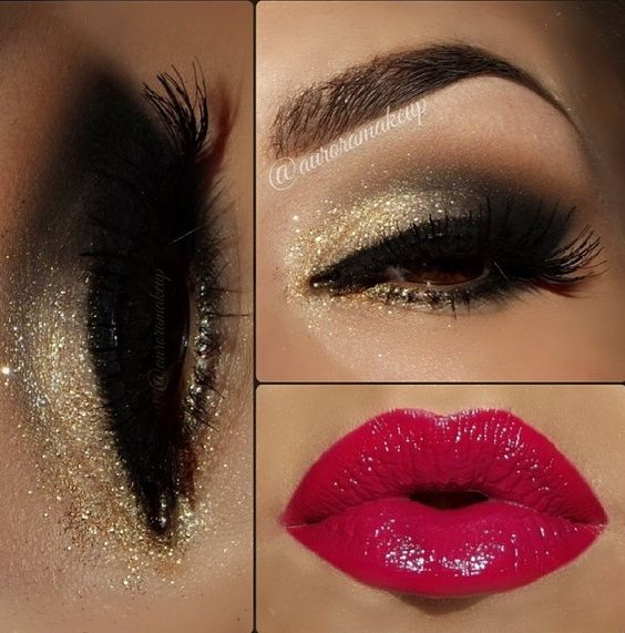 Download Face Makeup Video How To Make Gold Smokey Eyes And Red