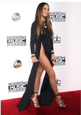 Chrissy Teigen Steals The Show At Amas With Revealing Dress ...