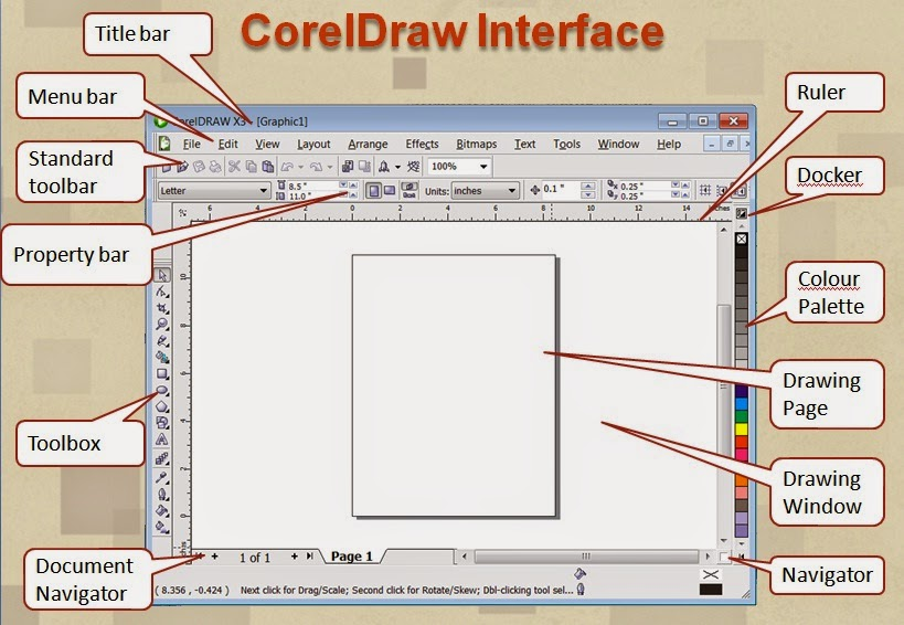 how to get color palet working on corel draw