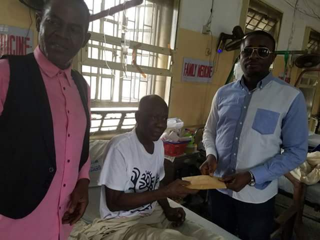Image result for Emeka Ike visits ailing veteran actor Tunde Alabi