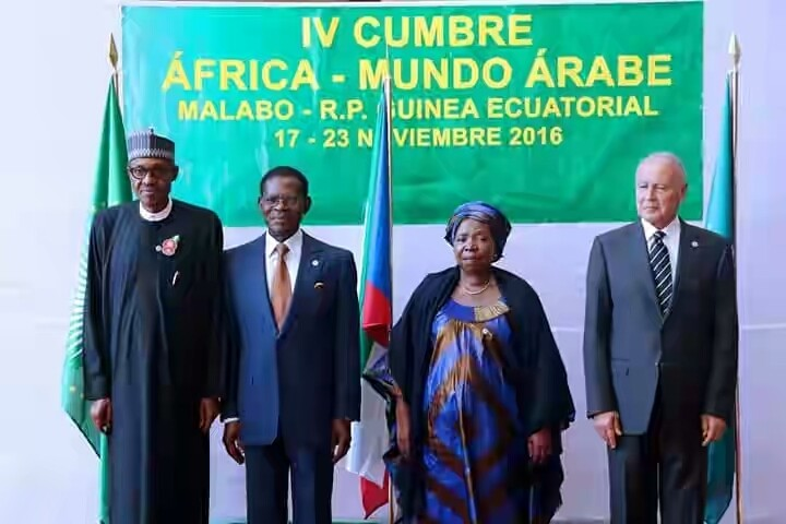 Image result for Pres. Buhari at the Africa-Arab Summit